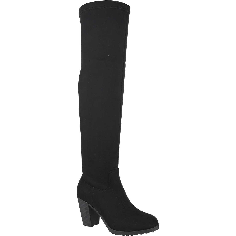 Bota Larga de Mujer Platanitos Negro b-11094