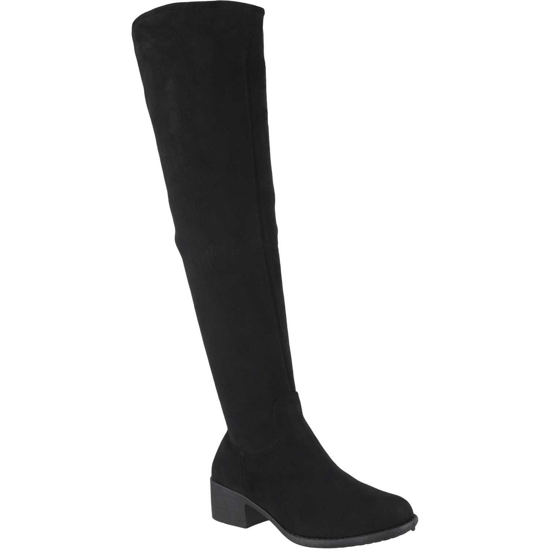 Bota Larga de Mujer Platanitos Negro b-11092