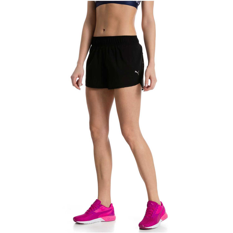 195f0b679d32 Short de Mujer Puma Negro  gris core-run 3 shorts w