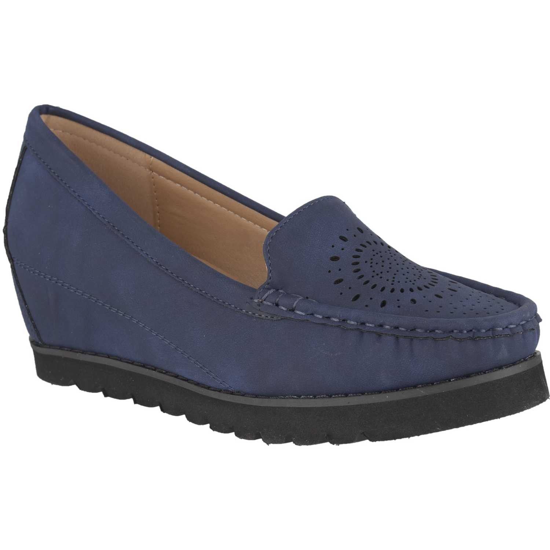 Mocasin de Mujer Platanitos Azul mw-8513