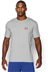 Under Armour Gris / Rojo de Hombre modelo CC LEFT CHEST LOCKUP Deportivo Polos
