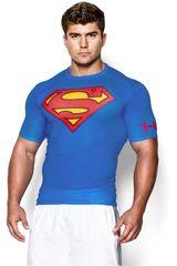 Under Armour Azul / Rojo de Hombre modelo ALTER EGO COMP SS Camisetas Fit Polos Deportivo