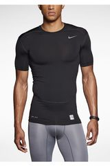 Nike Negro de Hombre modelo CORE COMPRESSION SS TOP 2.0 Deportivo Polos