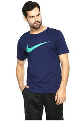 Nike Azul de Hombre modelo M NK DRY TEE DF SWOOSH HTR Deportivo Polos