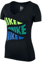 Nike Negro de Mujer modelo NK TEE-V VARSITY PENNANT Deportivo Polos