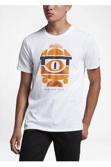 Nike Blanco / Naranja de Hombre modelo SB CH 1 TEE Deportivo Polos