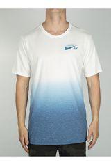 Nike Blanco / Azul de Hombre modelo M NK DRY TEE SB DB DIP DYE Deportivo Polos