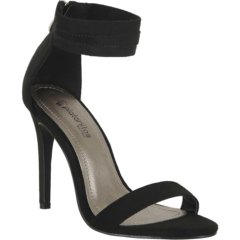 Sandalia de Mujer Platanitos Negro s 1071