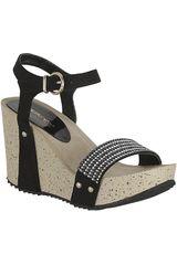 Sandalia Cuña de Mujer Platanitos SPW 9101 Negro