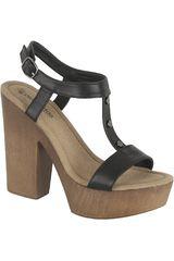 Platanitos Negro de Mujer modelo SP 3355 Sandalias Casual Plataformas Tacos