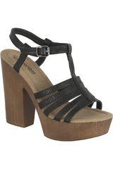 Sandalia Plataforma de Mujer Platanitos Negro SP 3353