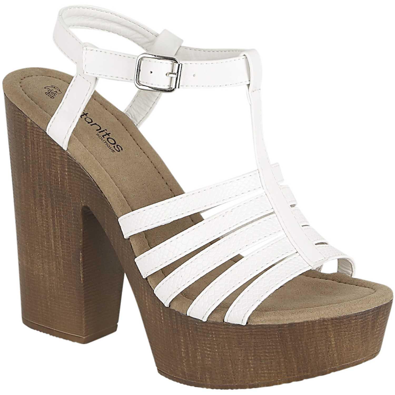 ce3ee1e8d7e Sandalia Plataforma de Mujer Platanitos Blanco sp 3353