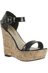 Sandalia de Mujer Platanitos Negro SPW 7506