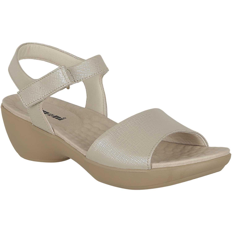 Sandalia de Mujer Limoni - Cuero Plateado sct 2950