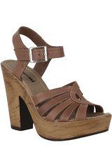 Sandalia Plataforma de Mujer Limoni - Cuero Camel SP LAURA01