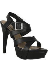 Sandalia Plataforma de Mujer Limoni - Cuero S 1221701 Negro