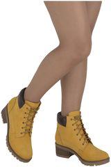 Botín de Mujer Limoni - Cuero Amarillo 111702