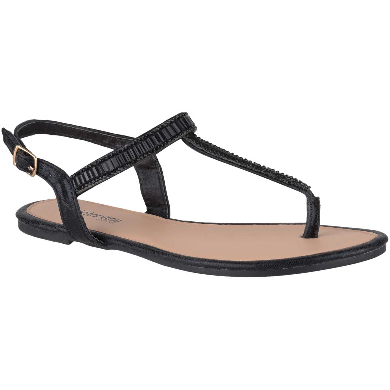 Flat de Mujer Platanitos Negro sf 7456