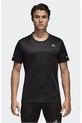 Polo de Hombre Adidas Negro RUN TEE M