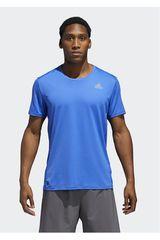 Adidas Azulino de Hombre modelo RUN TEE M Deportivo Polos