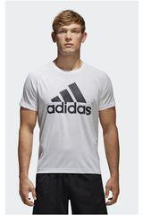 adidas Blanco de Hombre modelo D2M TEE LOGO Deportivo Polos