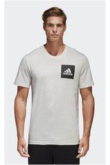 adidas Blanco / Negro de Hombre modelo ESS CHESTLOGO T Deportivo Polos