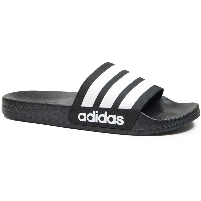 release date: 8075b 9e20c Sandalia de Hombre Adidas Negro   blanco adilette shower