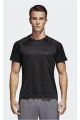 adidas Negro de Hombre modelo D2M TEE PL Deportivo Polos