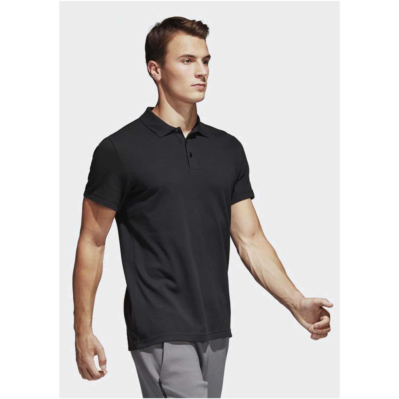 63ea3beb61919 Camiseta de Hombre Adidas Negro ess base polo