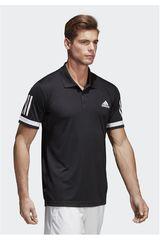 adidas Negro / Blanco de Hombre modelo CLUB 3STR POLO Polos Camisetas Deportivo