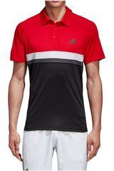 adidas Rojo / Negro de Hombre modelo CLUB C/B POLO Polos Camisetas Deportivo