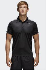 adidas Negro de Hombre modelo D2M 3S POLO Camisetas Deportivo Polos