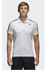 adidas Blanco de Hombre modelo D2M 3S POLO Polos Camisetas Deportivo