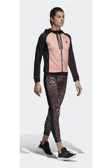adidas Rosado / Negro de Mujer modelo WTS HOODY&TIGHT Deportivo Buzos