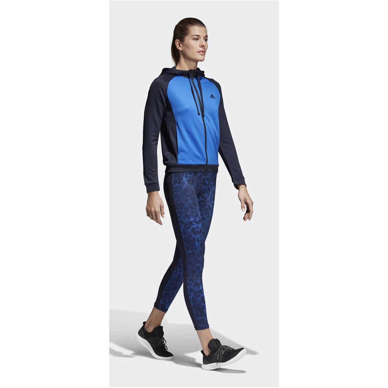 Buzo de Mujer Adidas Azulino / negro wts hoody&tight