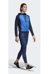Adidas Azulino / negro de Mujer modelo WTS HOODY&TIGHT Deportivo Buzos