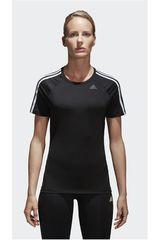 adidas Negro / Blanco de Mujer modelo D2M TEE 3S Polos Deportivo