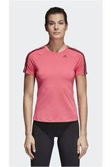 adidas Coral de Mujer modelo D2M TEE 3S Deportivo Polos