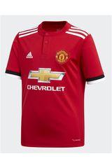 Camiseta de Jovencito Adidas MUFC H JSY Y Rojo