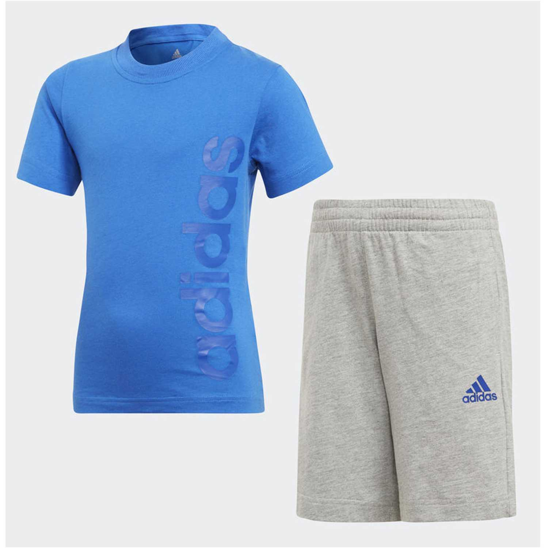 online store eefc0 52c7f Buzo de Jovencito Adidas Celeste  gris lk lin sum set