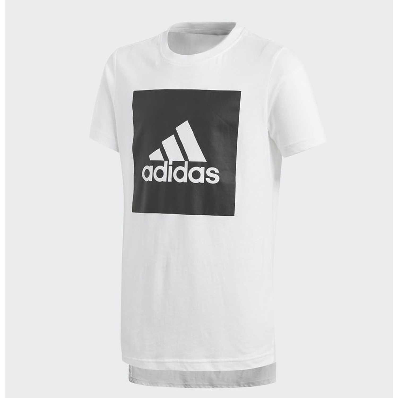sale retailer 9c6a0 41bd6 Polo de Jovencito Adidas Blanco  negro yb logo tee 2
