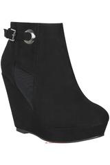 Platanitos Negro de Mujer modelo VIVI-BTW 332 Cuña Botínes