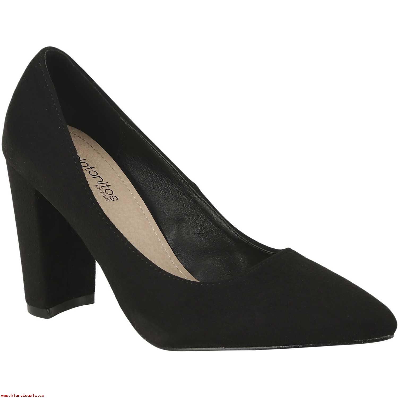 Calzado de Mujer Platanitos Negro c-v-41