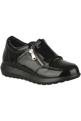 Platanitos Negro de Mujer modelo ZC-56 Zapatillas casual Zapatillas