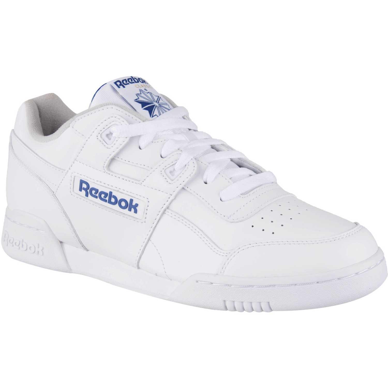 d872501763577 Zapatilla de Hombre Reebok Blanco   azul workout plus