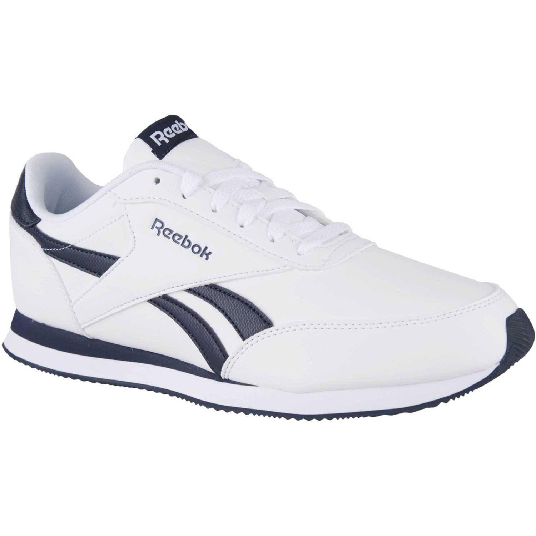 Zapatilla de Hombre Reebok Blanco / Negro royal cl jog 2l