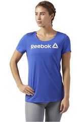 Reebok Azulino de Mujer modelo LINR READ SCOOP Deportivo Polos