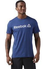 Reebok Azul de Hombre modelo DELTA READ TEE- LATE ADD Deportivo Polos