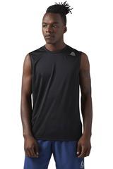 Reebok Negro de Hombre modelo RUN SLVLS Polos Deportivo