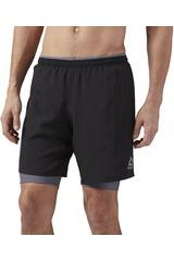 Reebok Negro de Hombre modelo RE 2-1 SHORT Deportivo Shorts